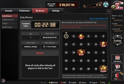 蜗牛扑克完成每日任务领走3000美金